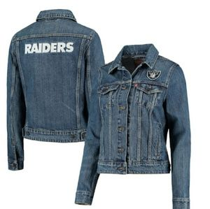 New~ Levis Raiders Denim Jacket